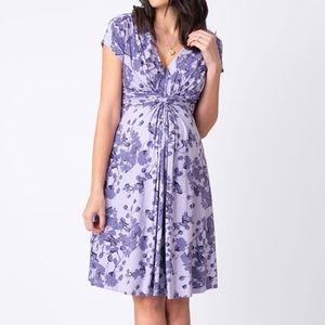 New Seraphine Lavender Blossom Maternity Dress
